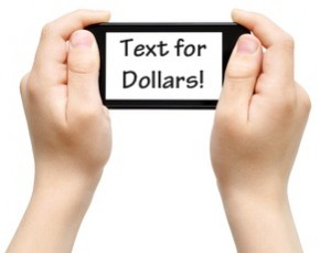 text for dollars